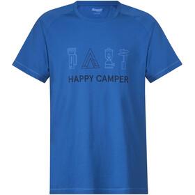 Bergans Happy Camper Tee Men Fjord/Dark Steel Blue/Summersky